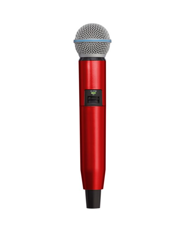 Shure GLX-D SM58/BETA58A Handle in Red